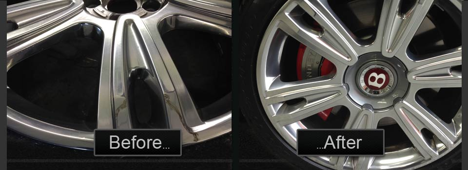 Bentley Alloy Wheel Refurbish Before & After